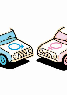 Illustration of two cars