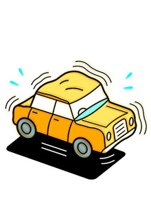 Illustration of yellow car