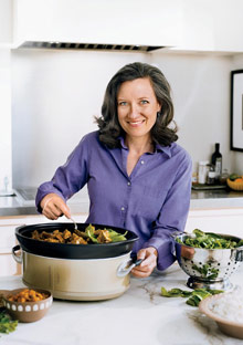 Dominique Browning using a slow-cooker