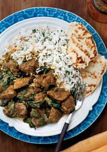 For the Crock-Pot: Indian Lamb and Spinach Curry