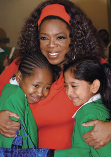 Oprah at the leadership academy for girls