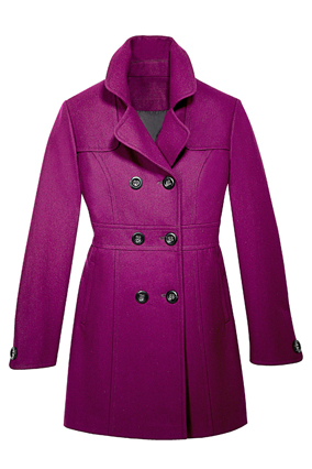 Dressbarn purple coat
