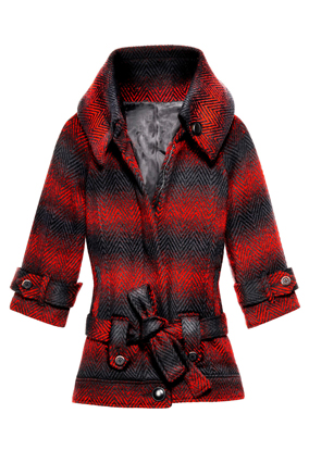 BB Dakota plaid coat