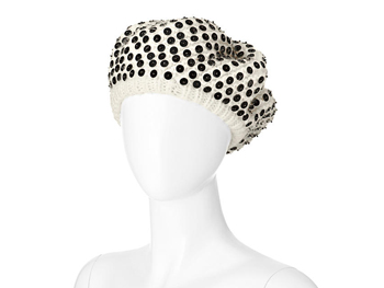 Liz Claiborne New York sequin black and white hat