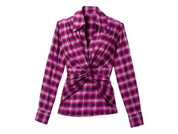 Ellavie plaid pink shirt