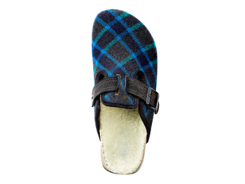 American Eagle plaid clogs