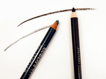 Maybelline Line Express and Shiseido Smoothing Eyeliner Pencil