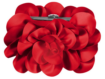 Sondra Roberts Satin Rose clutch