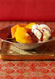 Spiced Oranges in Red Wine