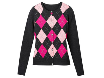 New York & Company argyle sweater