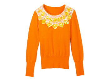 JLLiz Claiborne New York orange sweater