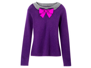 Saks Fifth Avenue Collection Cashmere Bow sweater
