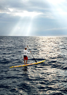 Laird Hamilton paddling for charity