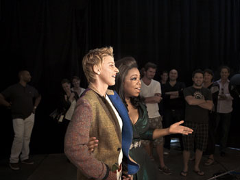 Oprah and Ellen at the O, the Oprah Magazine cover shoot