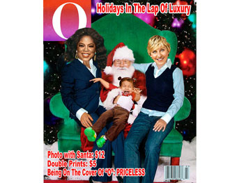Oprah and Ellen magazine cover