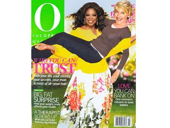 Oprah and Ellen magazine cover