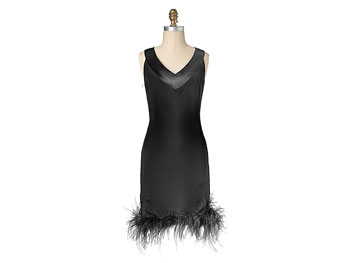 Feathered Target holiday dress