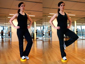 Yoga fitness pod move