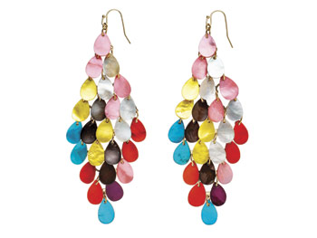 Sequin shell earrings