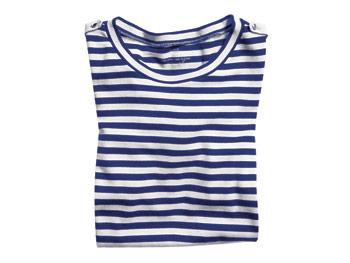 J Crew striped long-sleeved tee