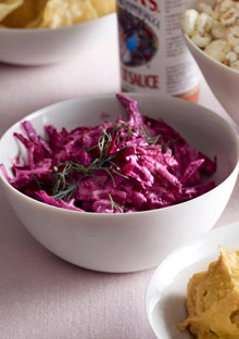 Beet Dip with Sour Cream and Horseradish