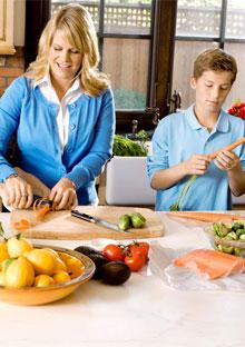 Healthy food in a refrigerator