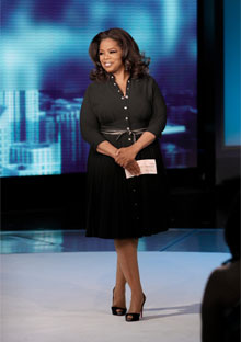 Oprah on the Oprah Winfrey Show