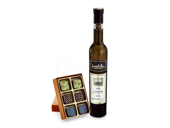 Inniskillin Vidal Icewine and Garrison Confections Stone Fruit Crumble Truffle