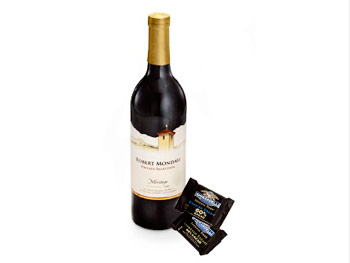 Robert Mondavi Meritage and Ghirardelli's Dark Chocolate Squares