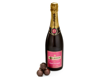 Piper-Heidsieck Brut Rose Sauvage and Godiva Truffle