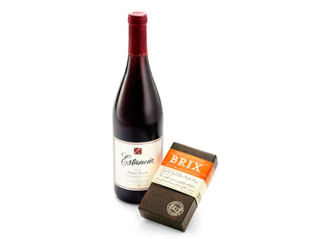 Estancia Pinot Noir and Brix Medium Dark Chocolate