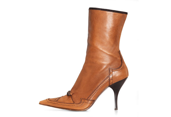 Oprah's auction brown heeled boot