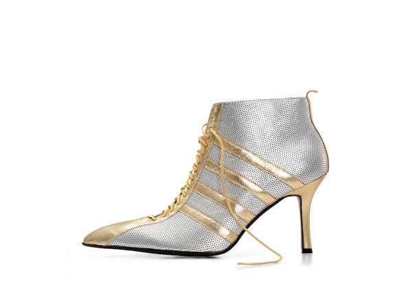Oprah's auction silver booties