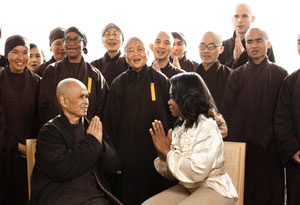 Thich Nhat Hanh and Oprah Winfrey