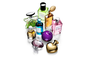 Collection of spring perfumes