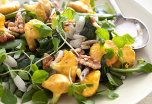 Sauteed Ramps, Sugar Snap Peas, and Pattypan Squash