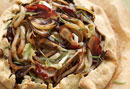 Bacon, Browned Onion, and Camembert Tart