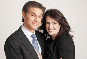 Dr. Mehmet Oz and his wife, Lisa