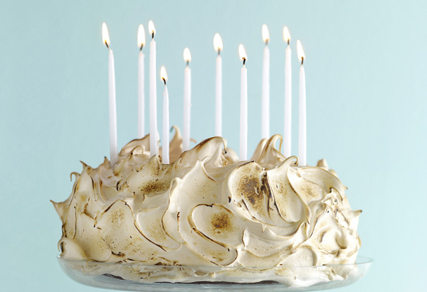 David Guas's Gateau de Bayou with Toasted Salty Caramel Meringue