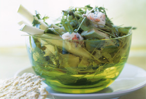 Maine Crab, Green Apple, and Avocado Salad with Parmesan Tuiles