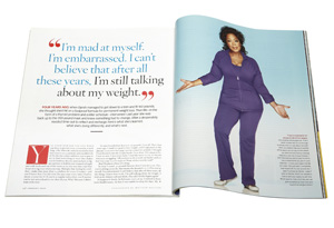 Oprah talks about her weight in o magazine