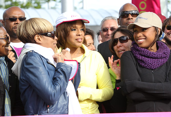 Jennifer Hudson, Mary J. Blige and Gayle King