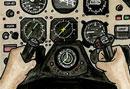 Cockpit of a plane
