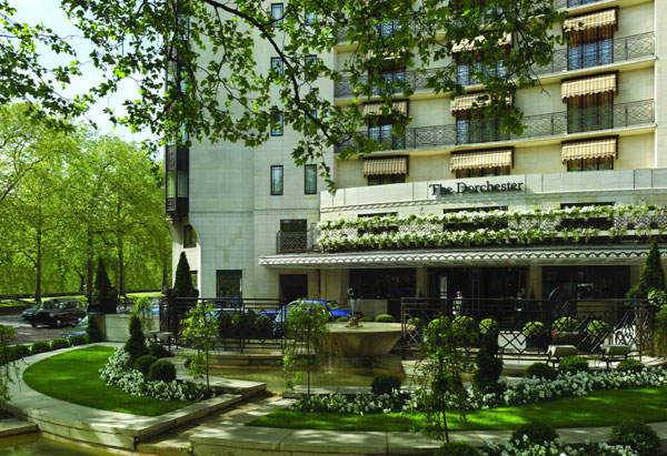 The Dorchester Hotel facade