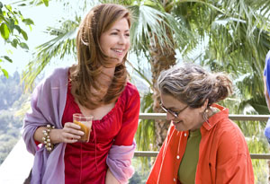 Dana Delany and Susan Feniger