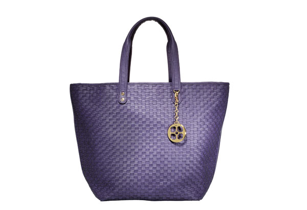 purple zip-top tote
