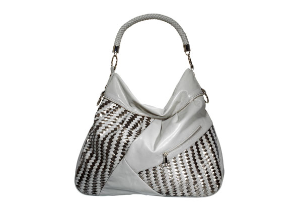 light gray slouchy hobo