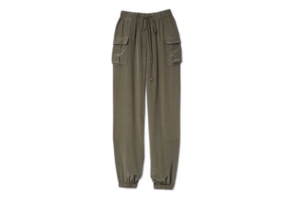 silky cargo pants