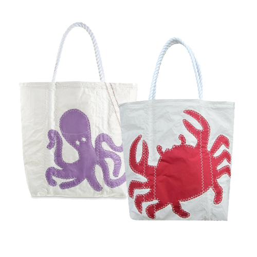 Octopus and Crab Tote Bags