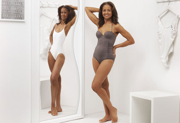 Yvonne Harris swimsuit makeover in O magazine